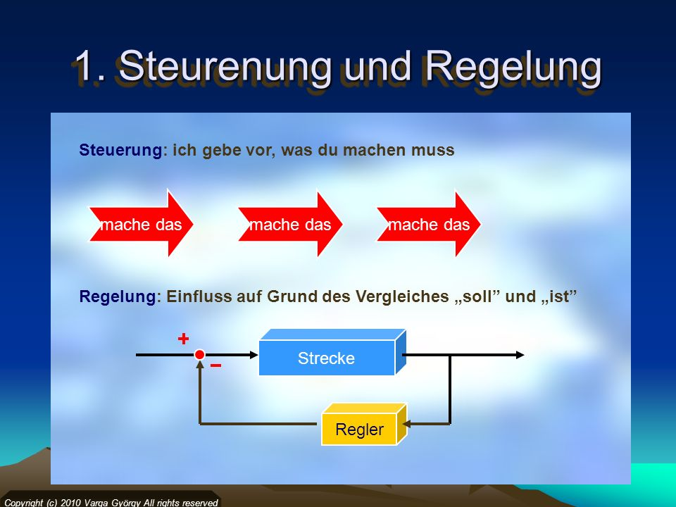 1. Steurenung und Regelung