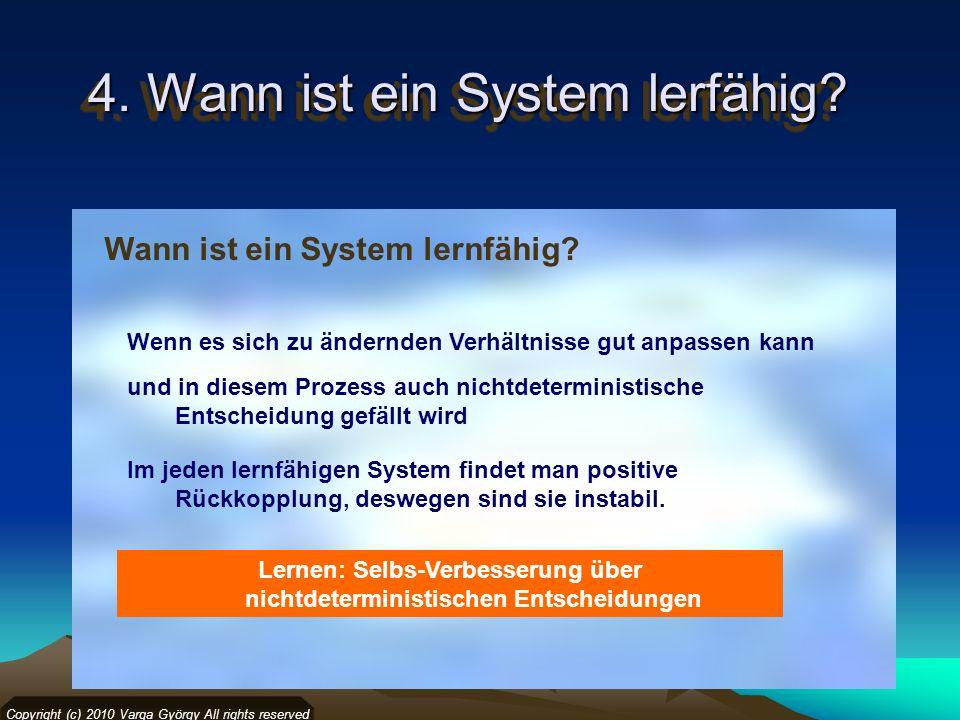 4. Wann ist ein System lerfähig