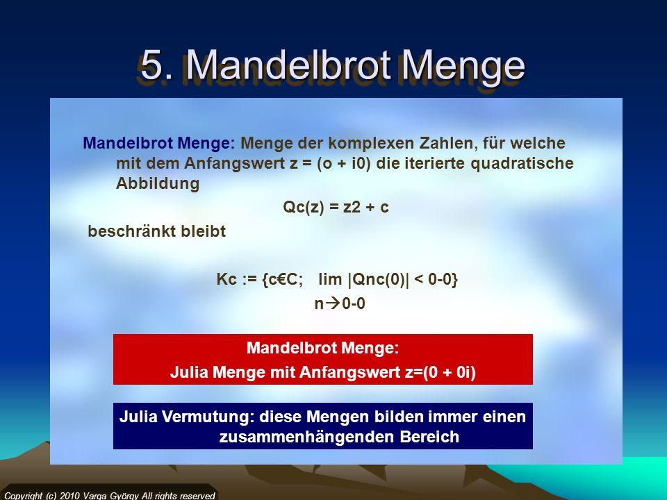 Julia Menge mit Anfangswert z=(0 + 0i)