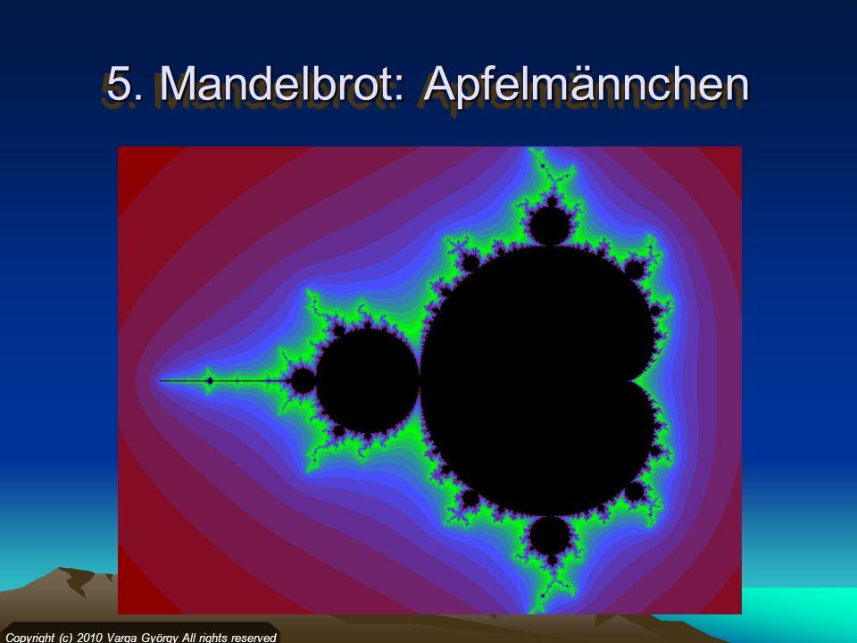 5. Mandelbrot: Apfelmännchen