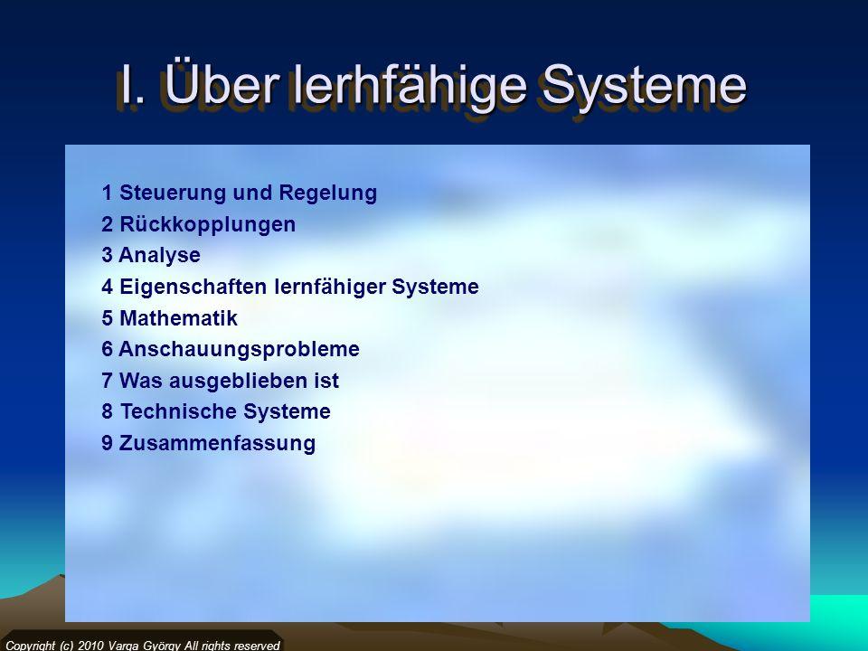 I. Über lerhfähige Systeme