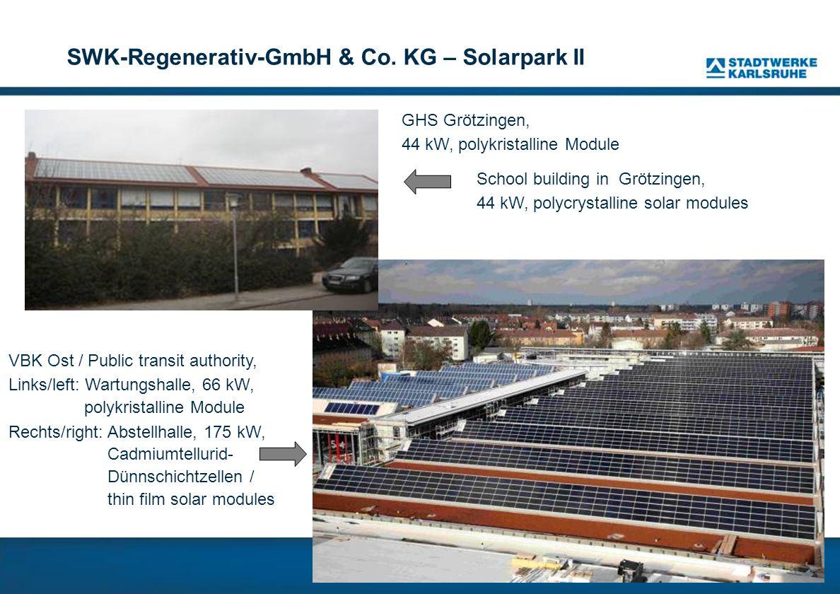 SWK-Regenerativ-GmbH & Co. KG – Solarpark II