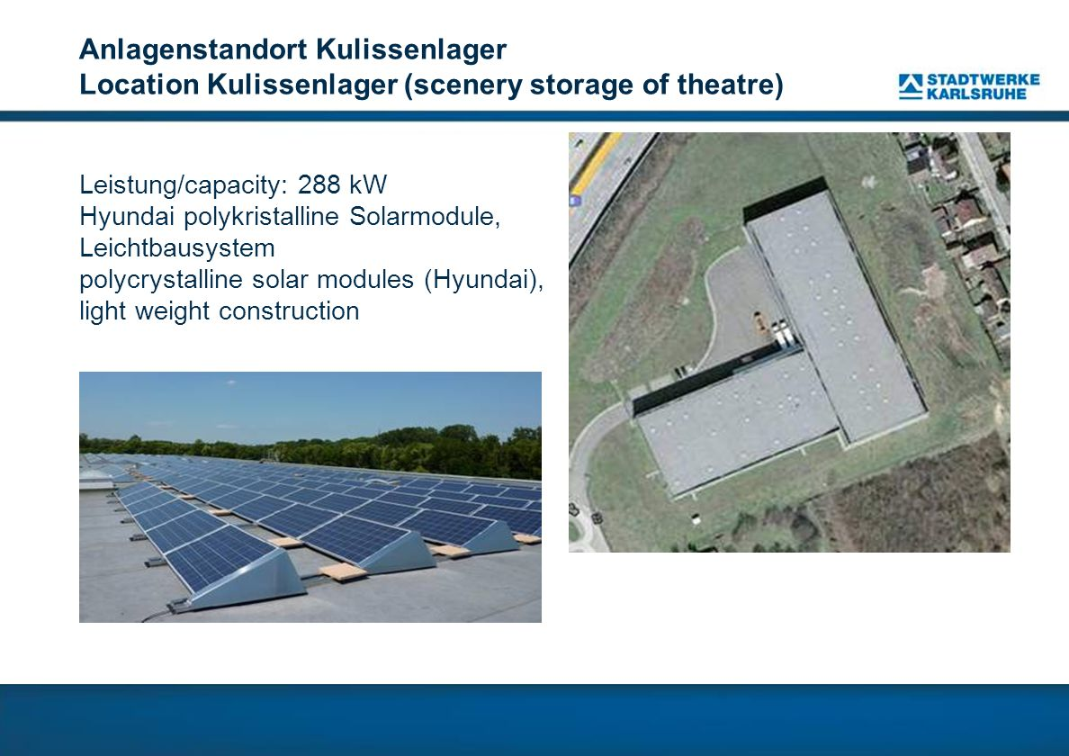 Anlagenstandort Kulissenlager Location Kulissenlager (scenery storage of theatre)