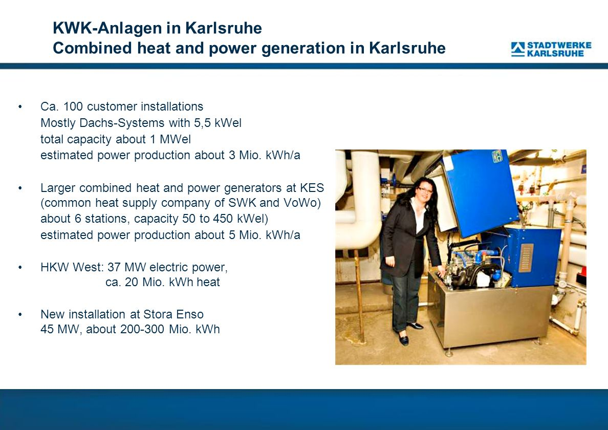 KWK-Anlagen in Karlsruhe Combined heat and power generation in Karlsruhe