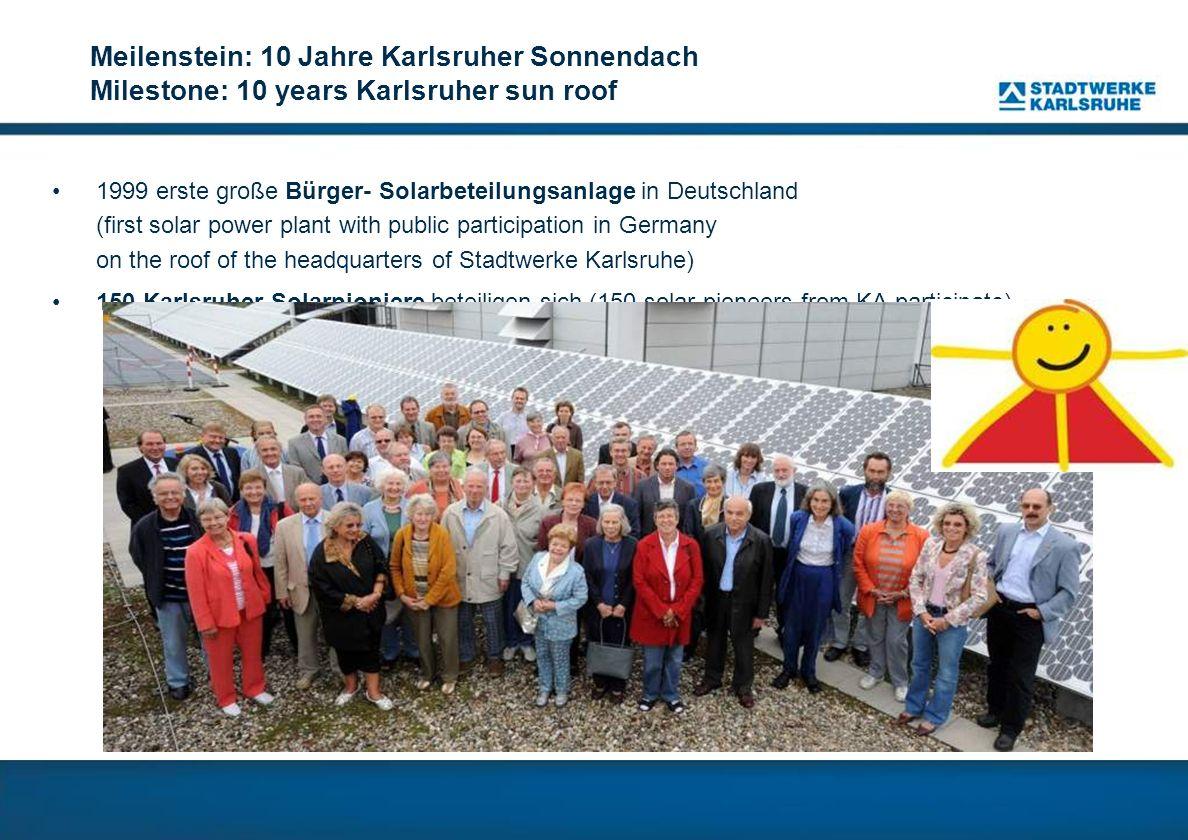 Meilenstein: 10 Jahre Karlsruher Sonnendach Milestone: 10 years Karlsruher sun roof
