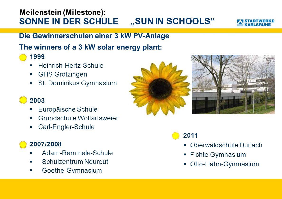 """SUN IN SCHOOLS Meilenstein (Milestone):"