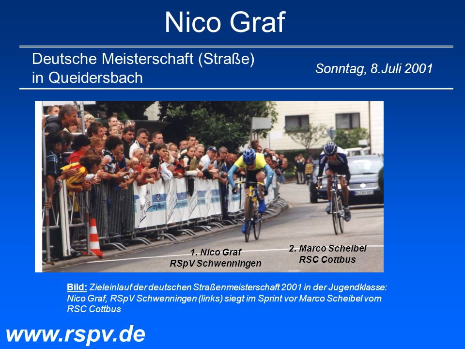 2. Marco Scheibel RSC Cottbus 1. Nico Graf RSpV Schwenningen