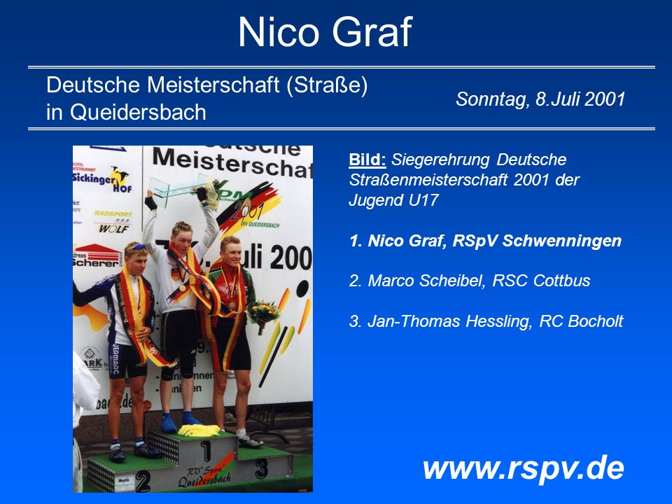 Nico Graf www.rspv.de Deutsche Meisterschaft (Straße) in Queidersbach