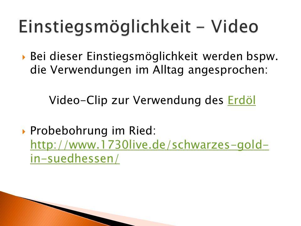 Einstiegsmöglichkeit - Video