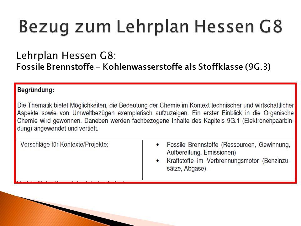 Bezug zum Lehrplan Hessen G8