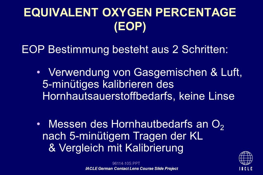 EQUIVALENT OXYGEN PERCENTAGE (EOP)