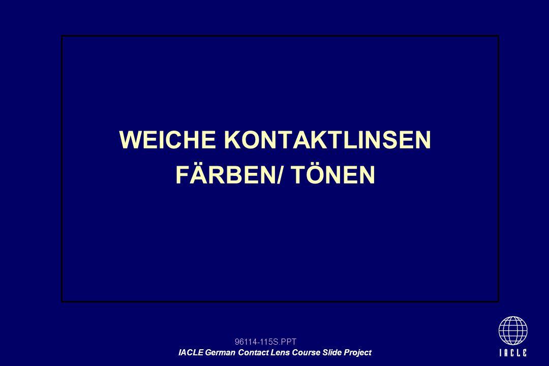 WEICHE KONTAKTLINSEN FÄRBEN/ TÖNEN