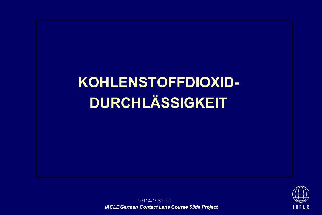 KOHLENSTOFFDIOXID- DURCHLÄSSIGKEIT