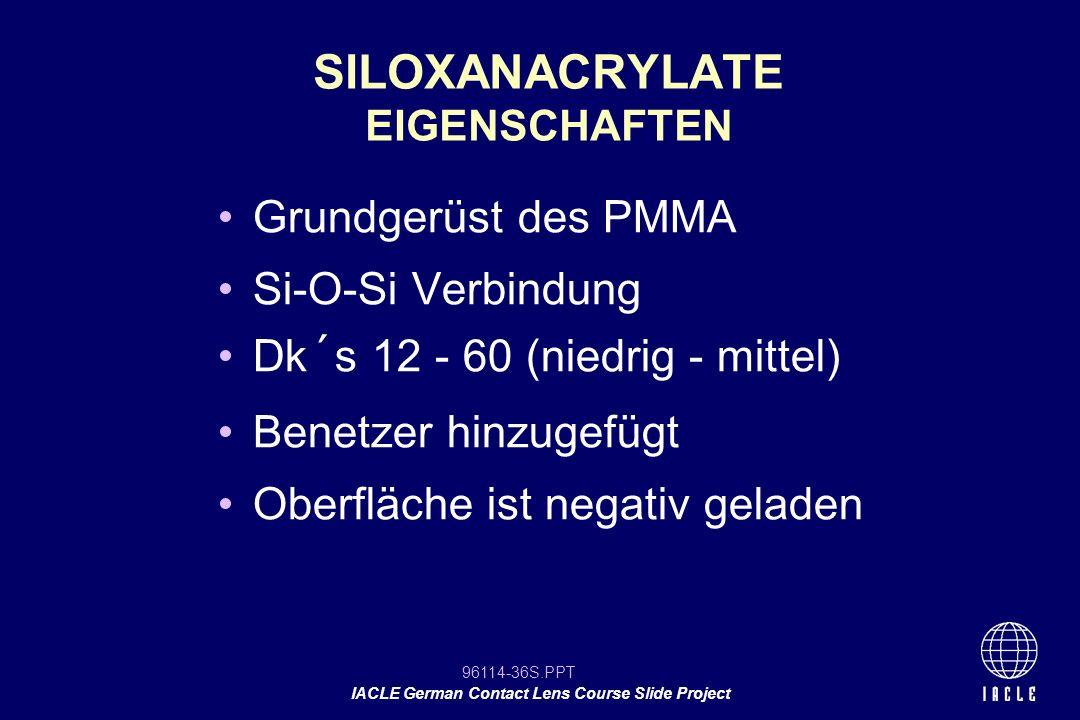 SILOXANACRYLATE EIGENSCHAFTEN