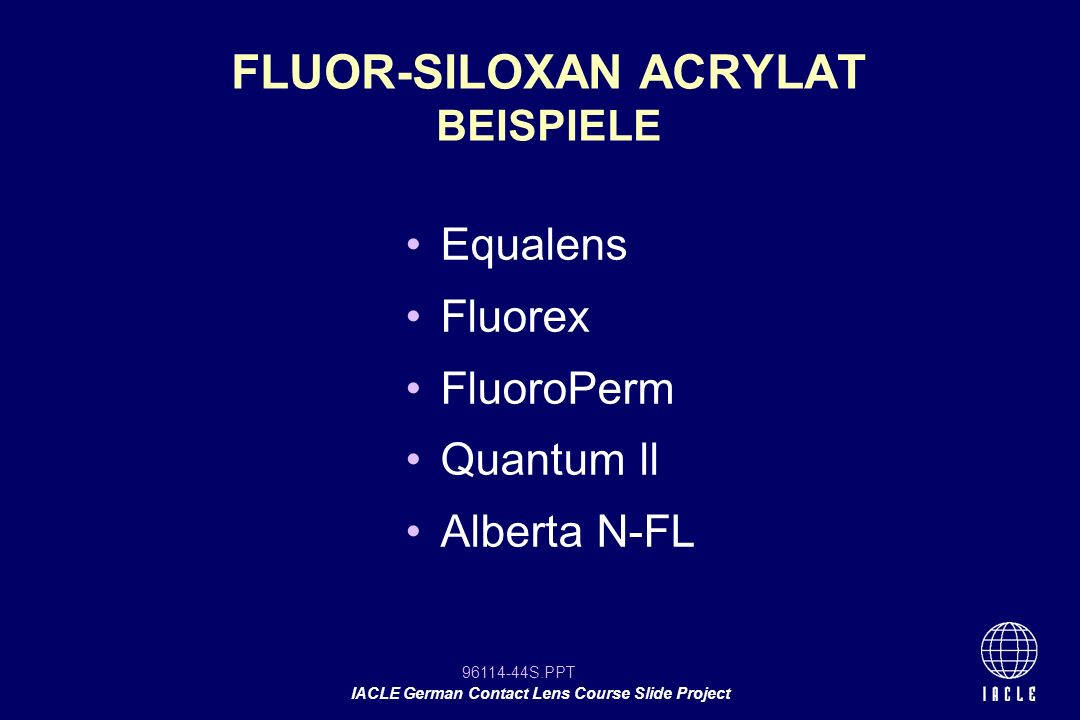 FLUOR-SILOXAN ACRYLAT BEISPIELE
