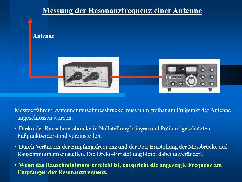 Messung der Resonanzfrequenz einer Antenne