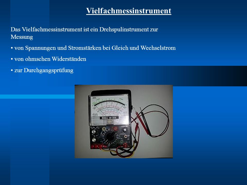 Vielfachmessinstrument