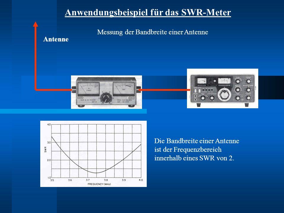 Anwendungsbeispiel für das SWR-Meter