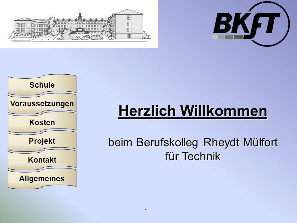 beim Berufskolleg Rheydt Mülfort für Technik
