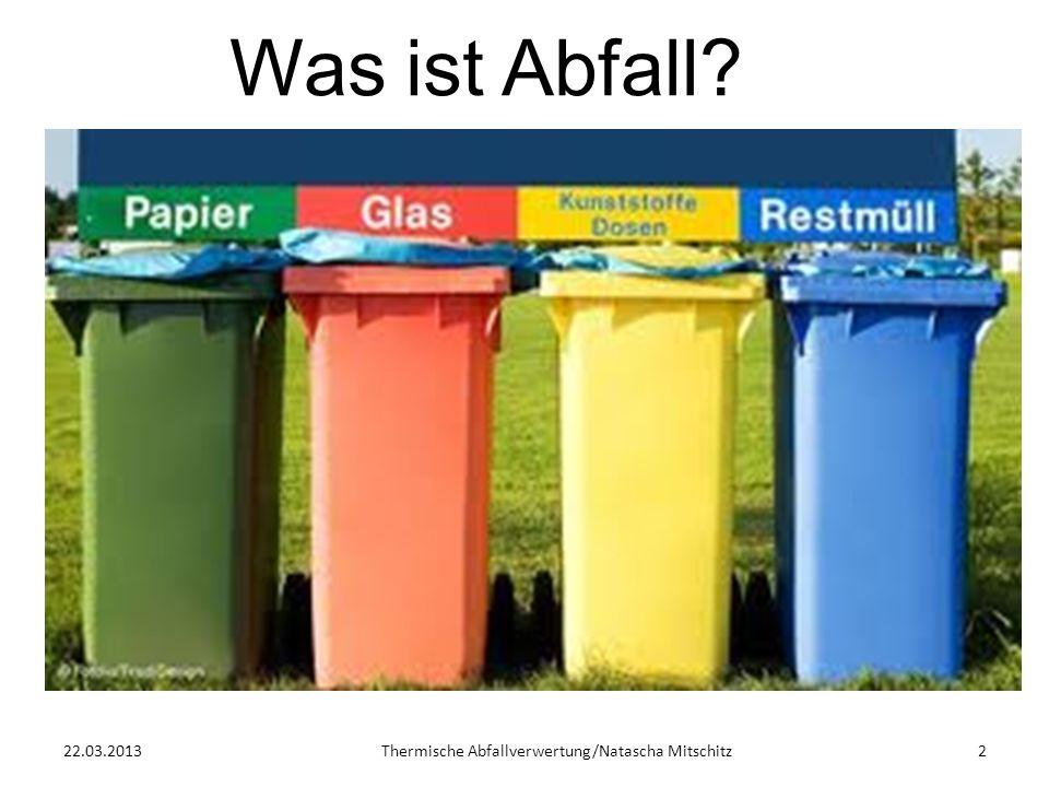 Thermische Abfallverwertung/Natascha Mitschitz