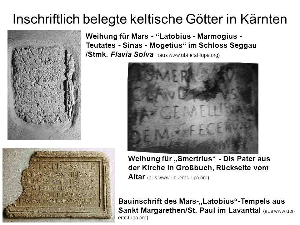 Inschriftlich belegte keltische Götter in Kärnten