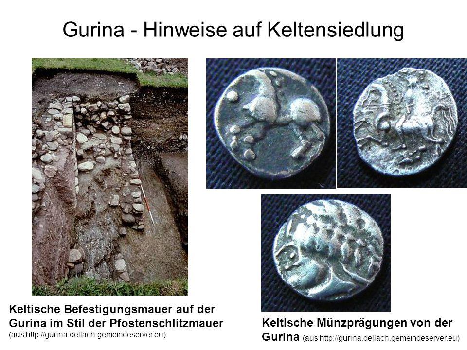 Gurina - Hinweise auf Keltensiedlung