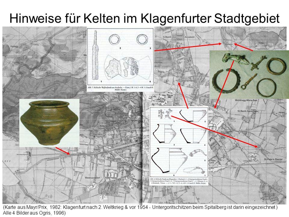 Hinweise für Kelten im Klagenfurter Stadtgebiet