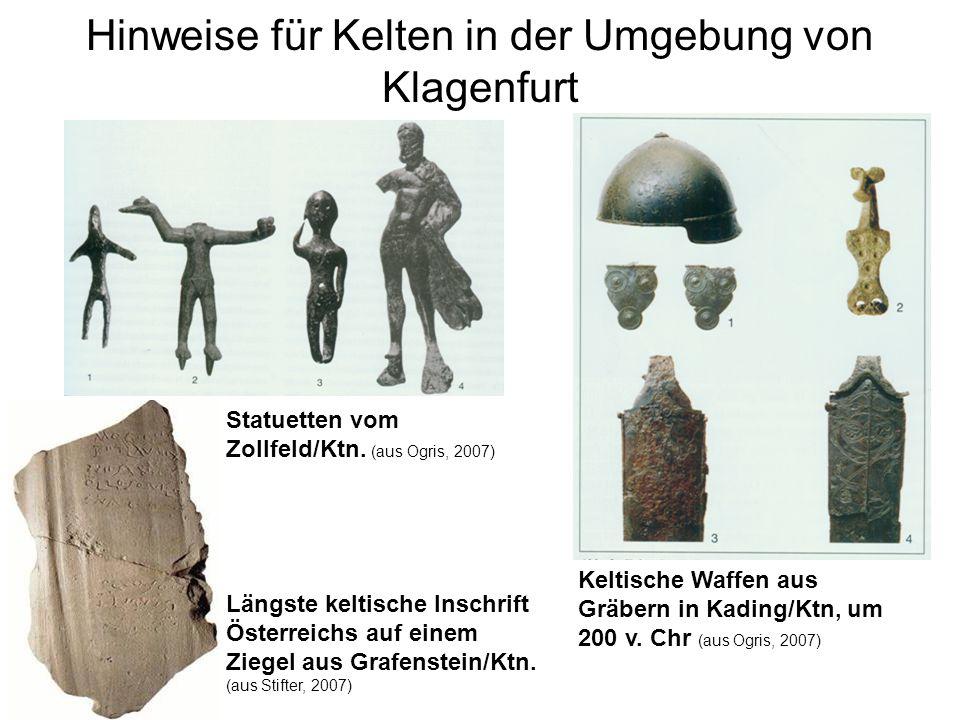 Hinweise für Kelten in der Umgebung von Klagenfurt