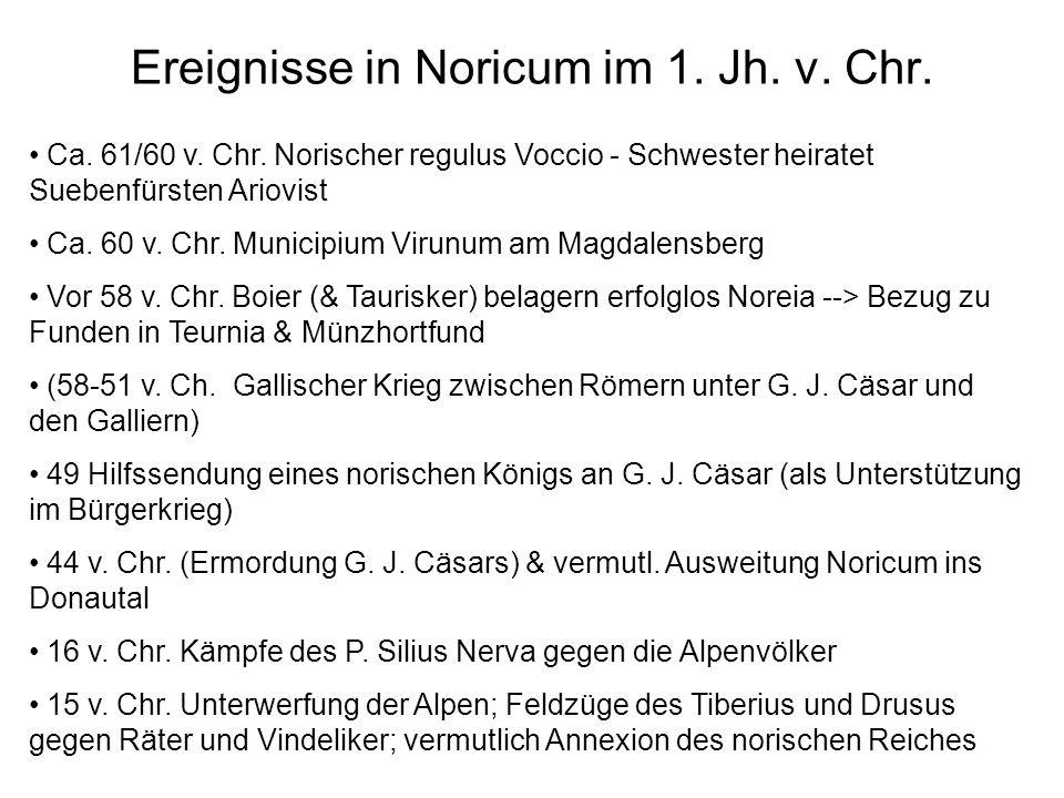 Ereignisse in Noricum im 1. Jh. v. Chr.
