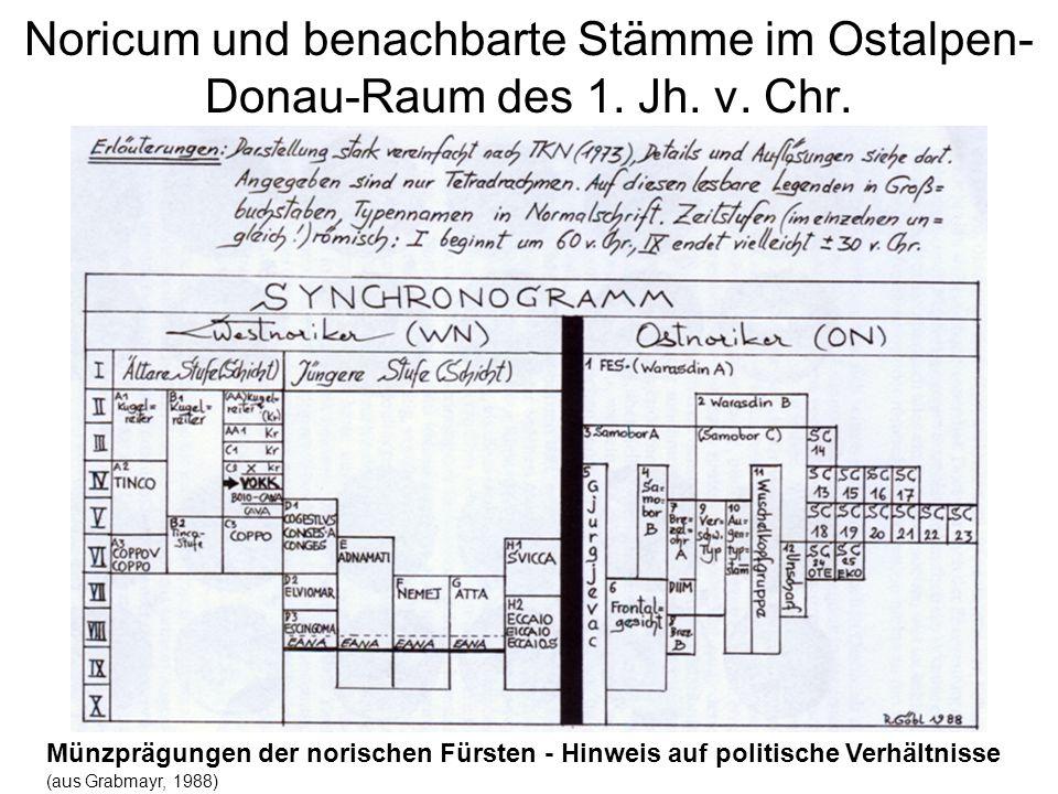 Noricum und benachbarte Stämme im Ostalpen-Donau-Raum des 1. Jh. v. Chr.