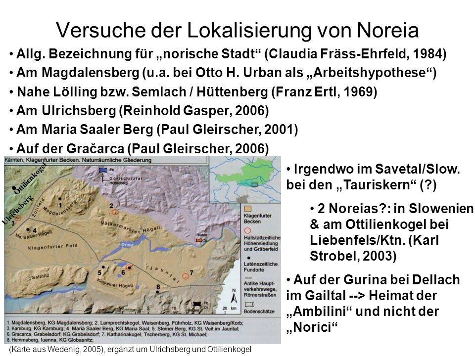 Versuche der Lokalisierung von Noreia