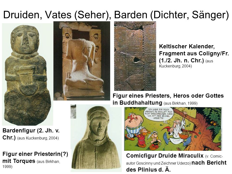 Druiden, Vates (Seher), Barden (Dichter, Sänger)
