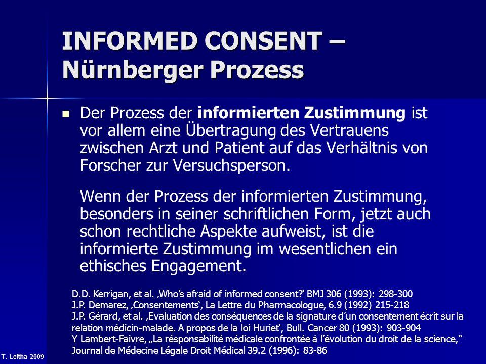INFORMED CONSENT – Nürnberger Prozess
