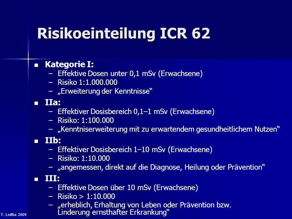 Risikoeinteilung ICR 62 Kategorie I: IIa: IIb: III: