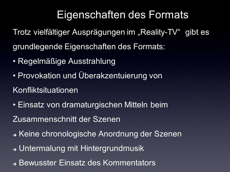 Eigenschaften des Formats