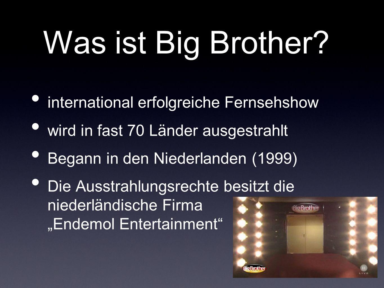 Was ist Big Brother international erfolgreiche Fernsehshow