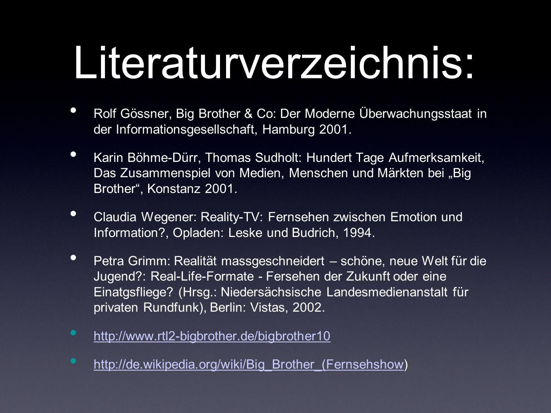 Literaturverzeichnis: