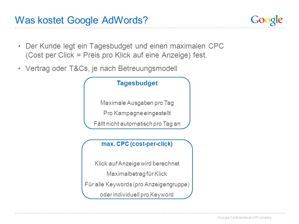 Was kostet Google AdWords