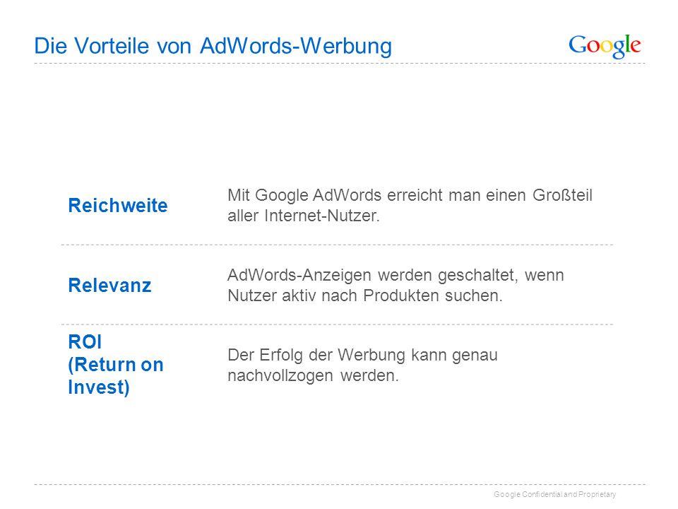 Die Vorteile von AdWords-Werbung