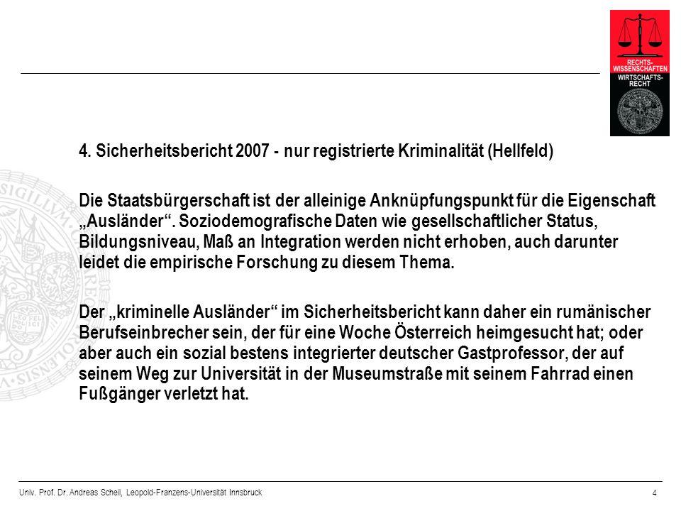 4. Sicherheitsbericht 2007 - nur registrierte Kriminalität (Hellfeld)