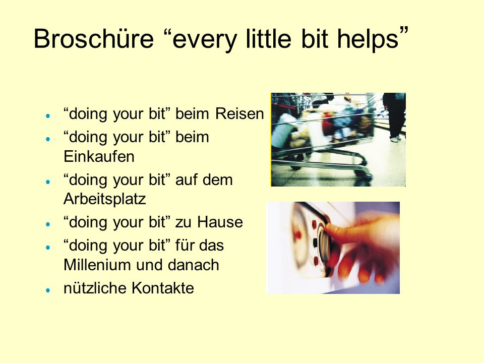 Broschüre every little bit helps