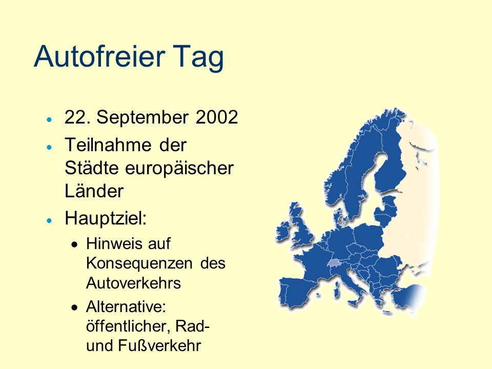 Autofreier Tag 22. September 2002