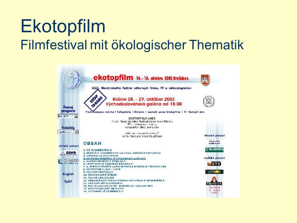 Ekotopfilm Filmfestival mit ökologischer Thematik