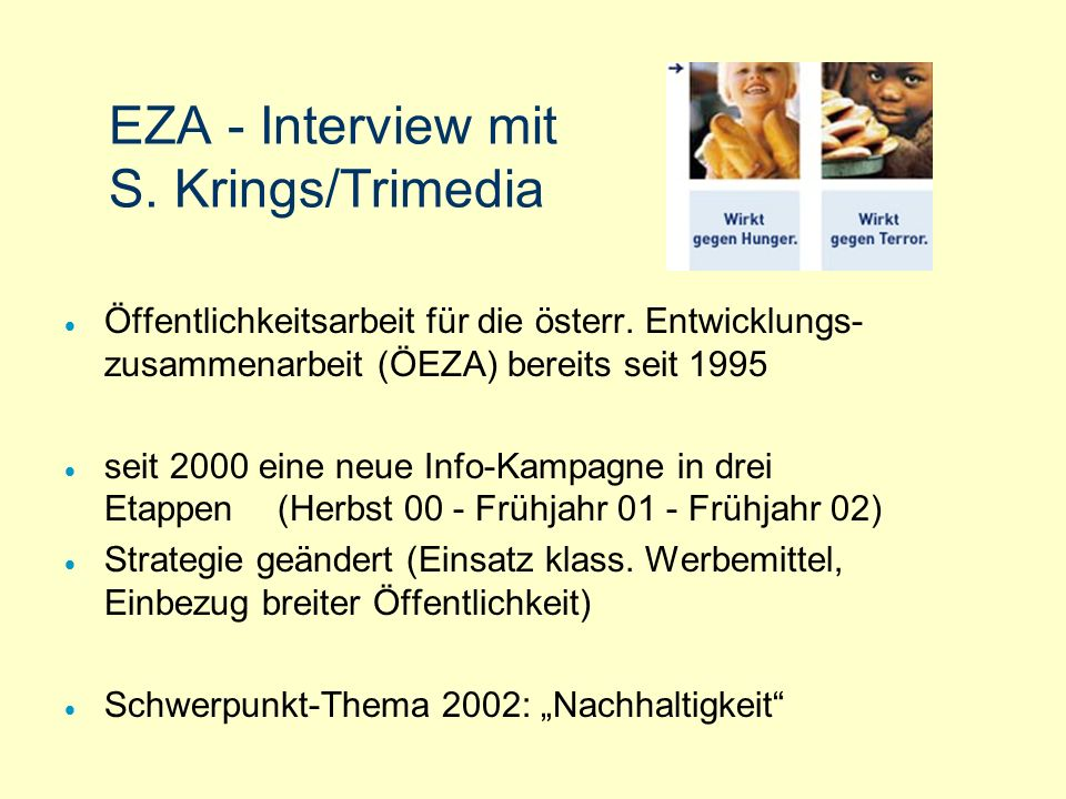 EZA - Interview mit S. Krings/Trimedia