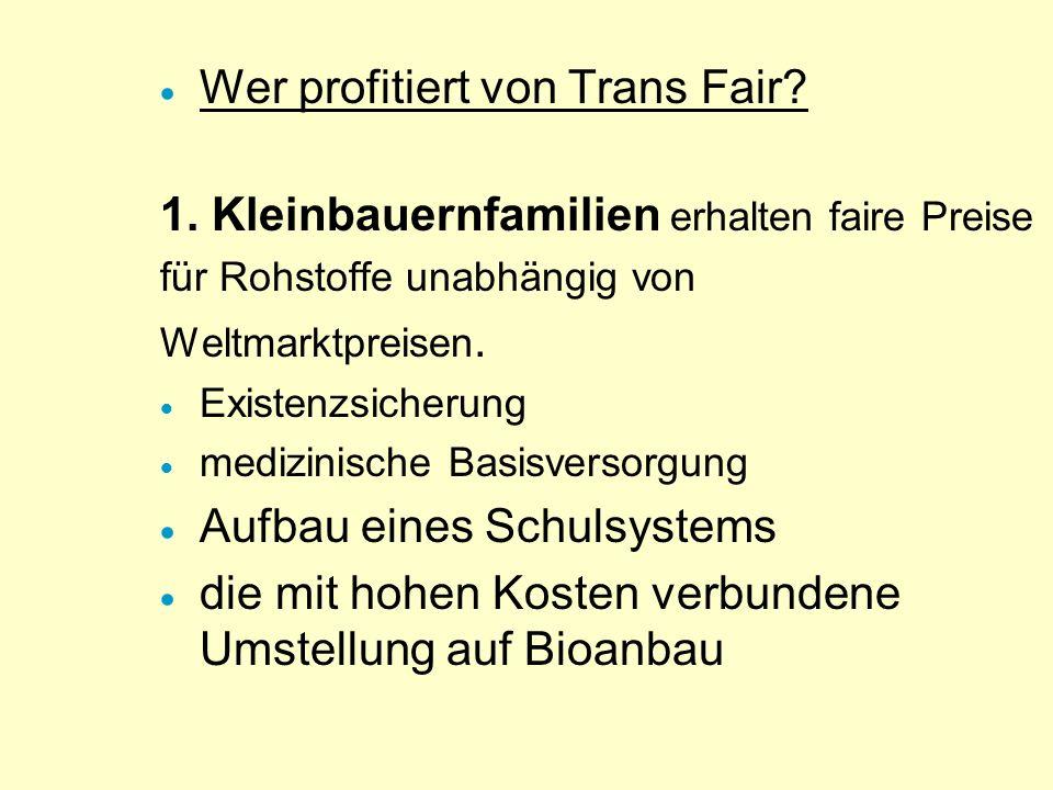 Wer profitiert von Trans Fair