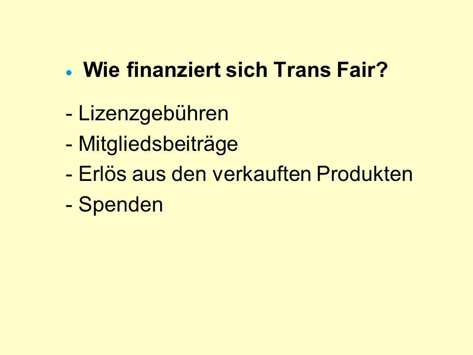 Wie finanziert sich Trans Fair