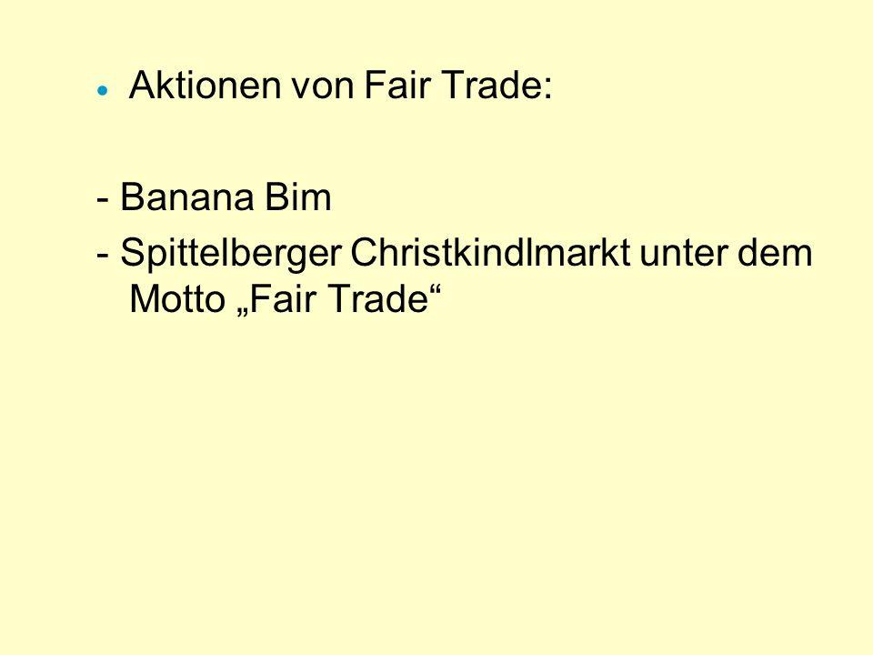 Aktionen von Fair Trade: