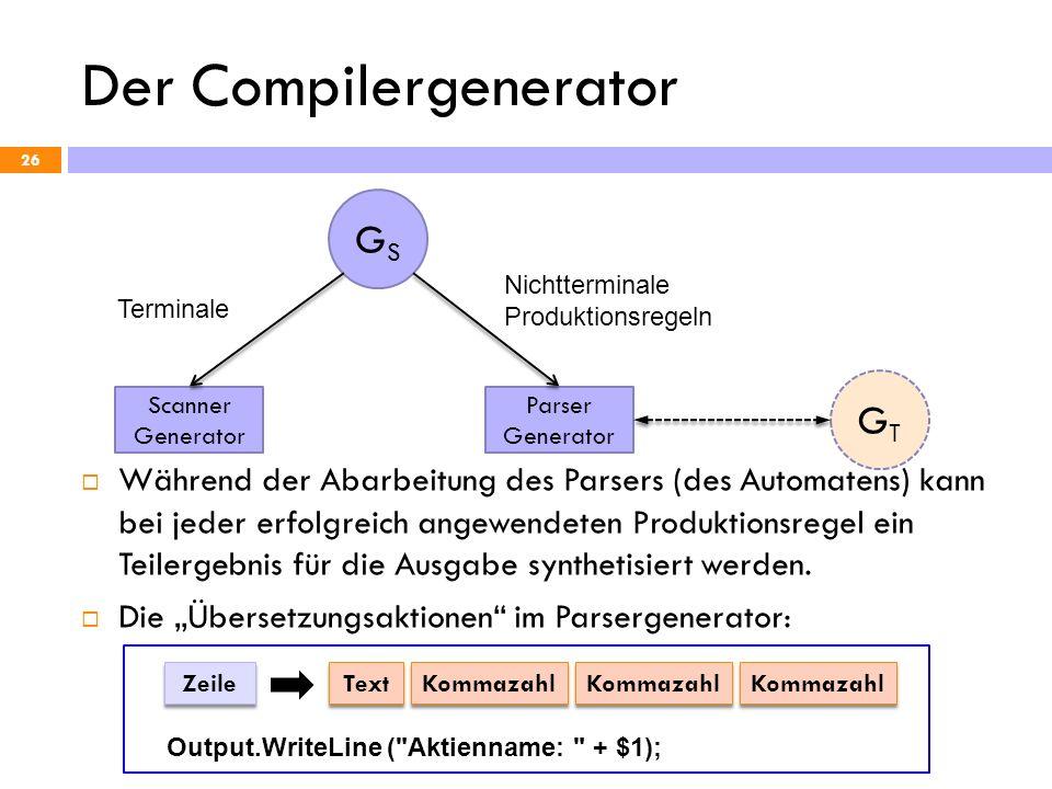 Der Compilergenerator