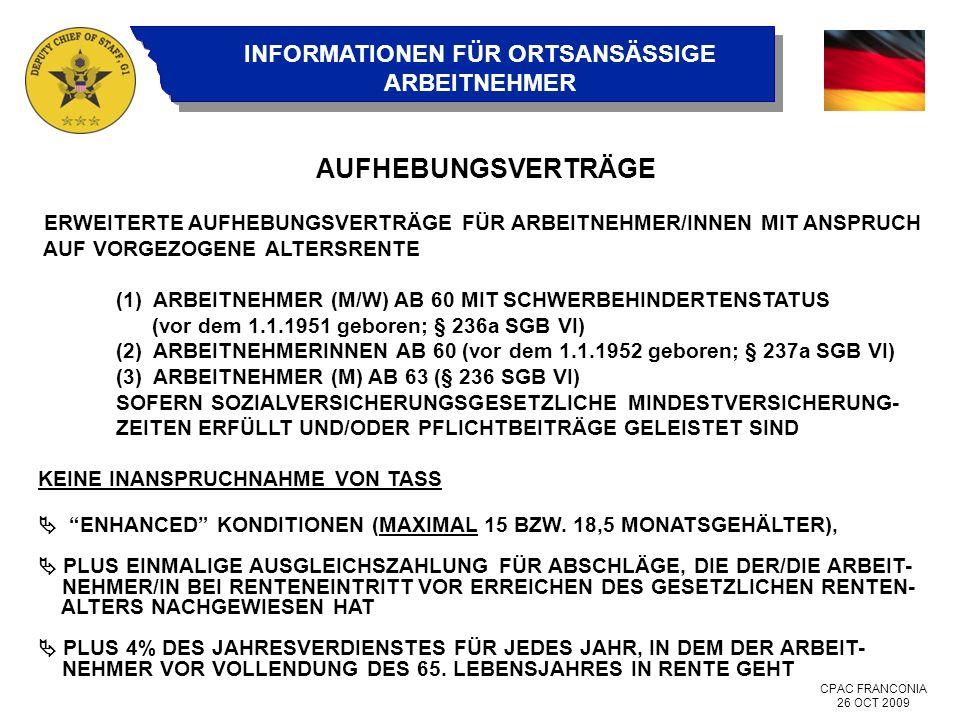 AUFHEBUNGSVERTRÄGE ERWEITERTE AUFHEBUNGSVERTRÄGE FÜR ARBEITNEHMER/INNEN MIT ANSPRUCH AUF VORGEZOGENE ALTERSRENTE.