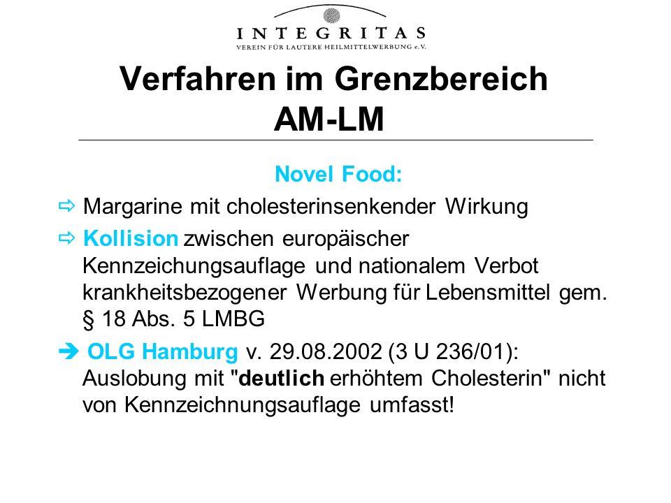Verfahren im Grenzbereich AM-LM